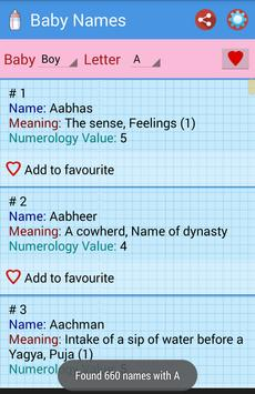 Hindu Baby Names apk screenshot
