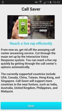 Call Saver poster