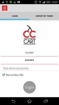 CC CART Customer feedback app poster
