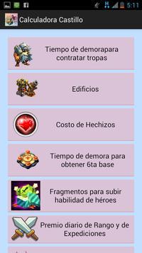 Clash Calculator in Spanish apk screenshot