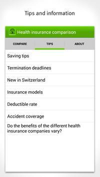Health Insurance Comparison apk screenshot