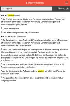 Bundesverfassung BV Schweiz apk screenshot