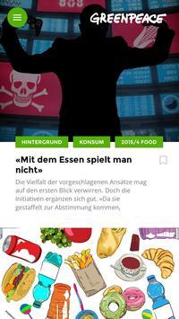Magazin Greenpeace Schweiz poster