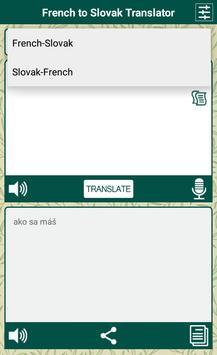 French to Slovak Translator apk screenshot