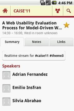 CAiSE'11 apk screenshot
