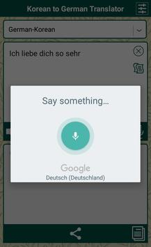 Korean to German Translator apk screenshot