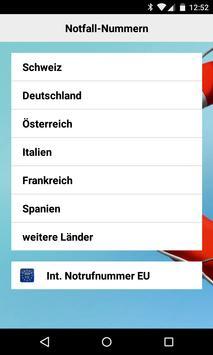 Helvetia Notfall Applikation apk screenshot