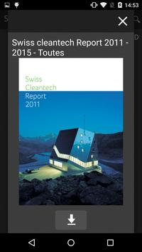 Swiss Cleantech Report poster