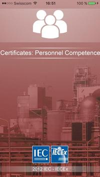 IECEx Personnel Certificates poster