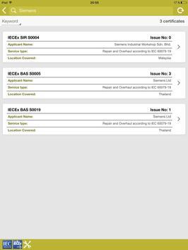 IECEx Service Certificates apk screenshot