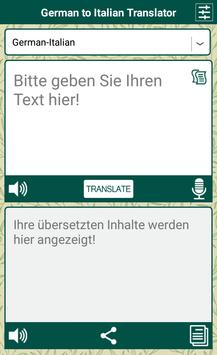 German to Italian Translator poster