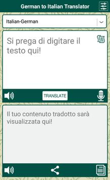 German to Italian Translator apk screenshot