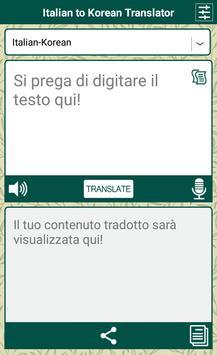 Italian to Korean Translator apk screenshot
