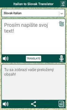 Italian to Slovak Translator apk screenshot