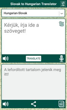 Slovak to Hungarian Translator apk screenshot