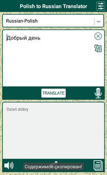Polish to Russian Translator poster