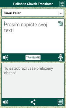 Polish to Slovak Translator apk screenshot
