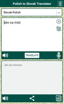 Polish to Slovak Translator poster