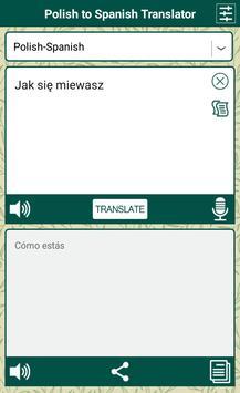 Polish to Spanish Translator poster