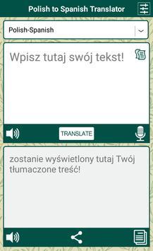 Polish to Spanish Translator apk screenshot