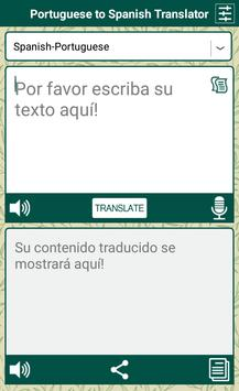 Portuguese Spanish Translator apk screenshot