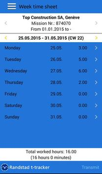 Randstad t-tracker apk screenshot