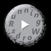 Running words icon