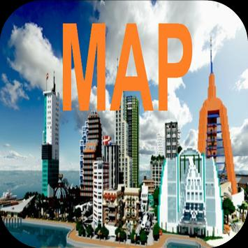 City Maps for Minecraft PE poster