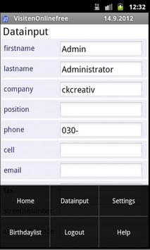 VisitenOnlinefree apk screenshot