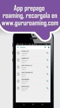 GuruRoaming: recibe llamados apk screenshot