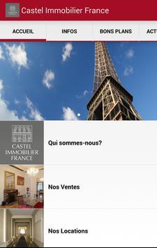 Castel Immobilier France poster