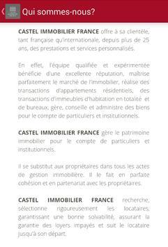 Castel Immobilier France apk screenshot