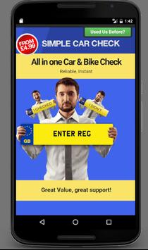 Simple Car Check poster
