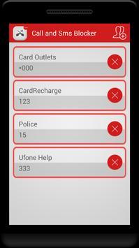 Call and Sms Blocker apk screenshot