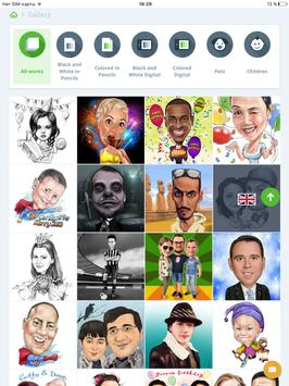 Caricatures,portraits,cartoons apk screenshot