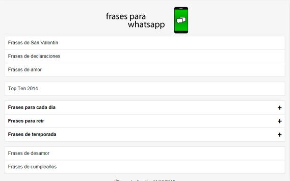 Frases para WhatsApp apk screenshot