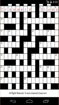 Crossword Clues Solver poster