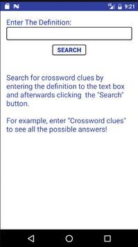 Crossword Clues Solver apk screenshot