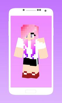 Cute girl skins for minecraft poster