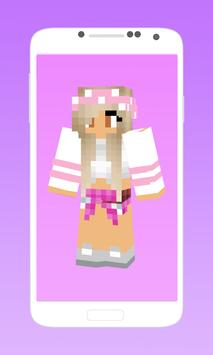 Cute girl skins for minecraft apk screenshot