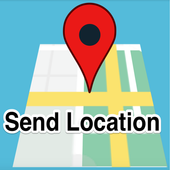 Send your GPS location in SMS icon