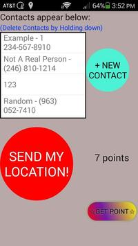 Send your GPS location in SMS poster