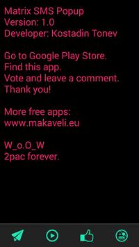 Matrix SMS Popup apk screenshot