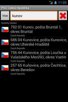 Czech Postal ZIP Code poster