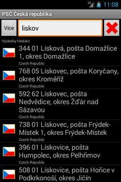 Czech Postal ZIP Code apk screenshot