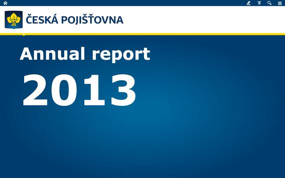 ČP Annual Report 2013 poster