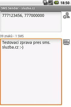 SMS Sender - sluzba.cz poster