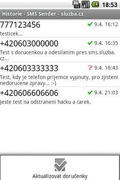 SMS Sender - sluzba.cz apk screenshot