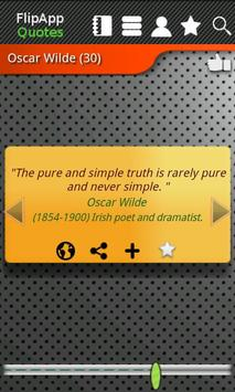FlipApp Famous Quotes English apk screenshot