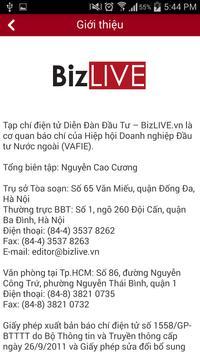 BizLIVE - Nhịp sống kinh doanh apk screenshot
